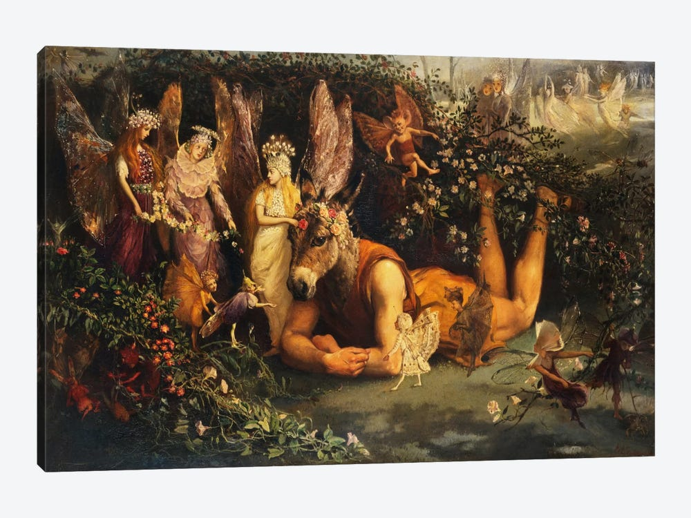 Titania and Bottom, from A Midsummer Night's Dream  by John Anster Fitzgerald 1-piece Art Print