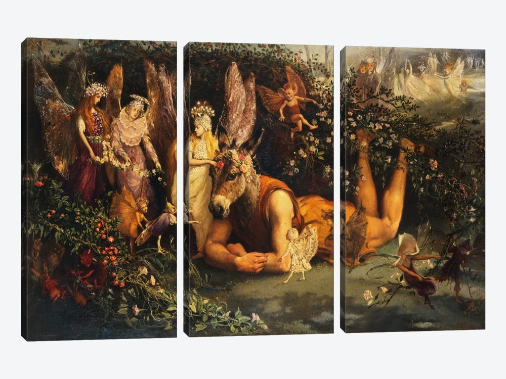 Titania and Bottom, from A Midsummer Night's Dream  by John Anster Fitzgerald 3-piece Art Print