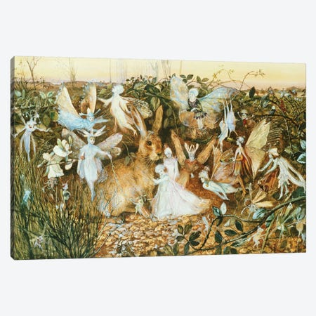 Fairy Twilight  Canvas Print #BMN5419} by John Anster Fitzgerald Canvas Wall Art