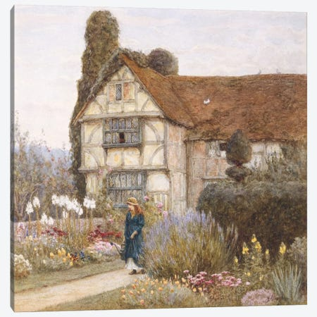 Old Manor House  Canvas Print #BMN5422} by Helen Allingham Canvas Print