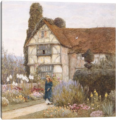 Old Manor House  Canvas Art Print