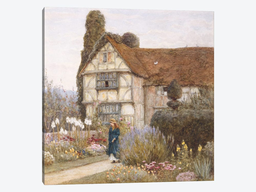 Old Manor House by Helen Allingham 1-piece Canvas Art