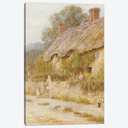 Cottage near Wells, Somerset  Canvas Print #BMN5423} by Helen Allingham Canvas Print