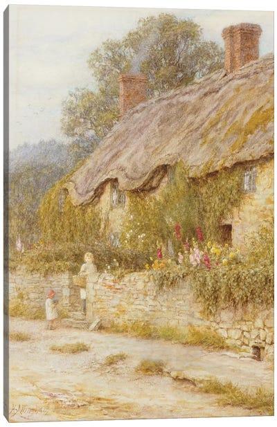 Cottage near Wells, Somerset  Canvas Art Print