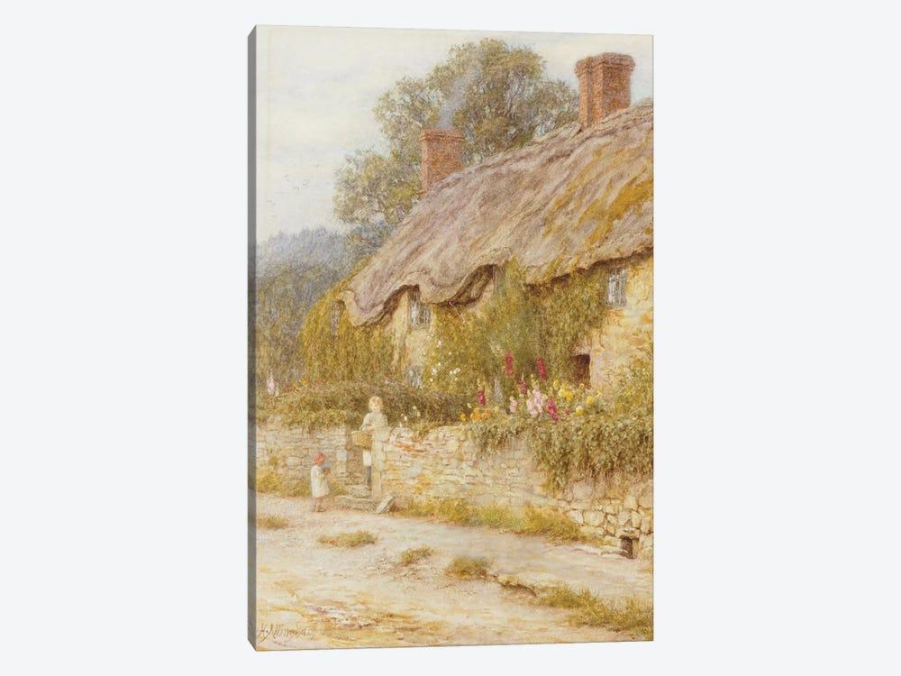 Cottage near Wells, Somerset  by Helen Allingham 1-piece Canvas Print