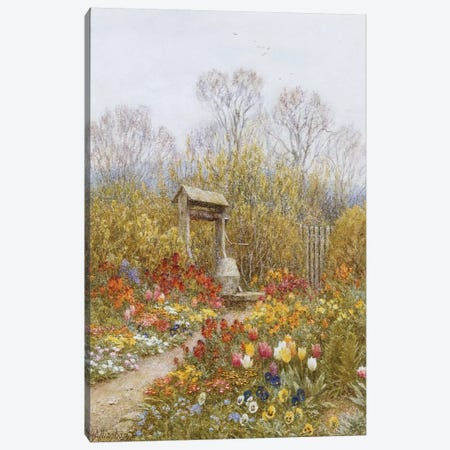 An Old Well, Brook, Surrey  Canvas Print #BMN5424} by Helen Allingham Canvas Art