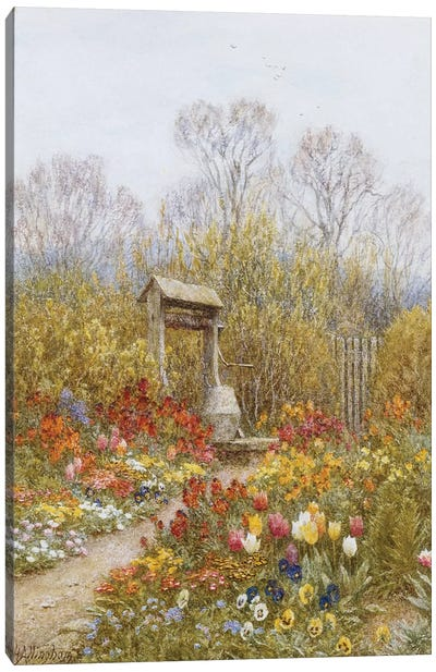 An Old Well, Brook, Surrey  Canvas Art Print