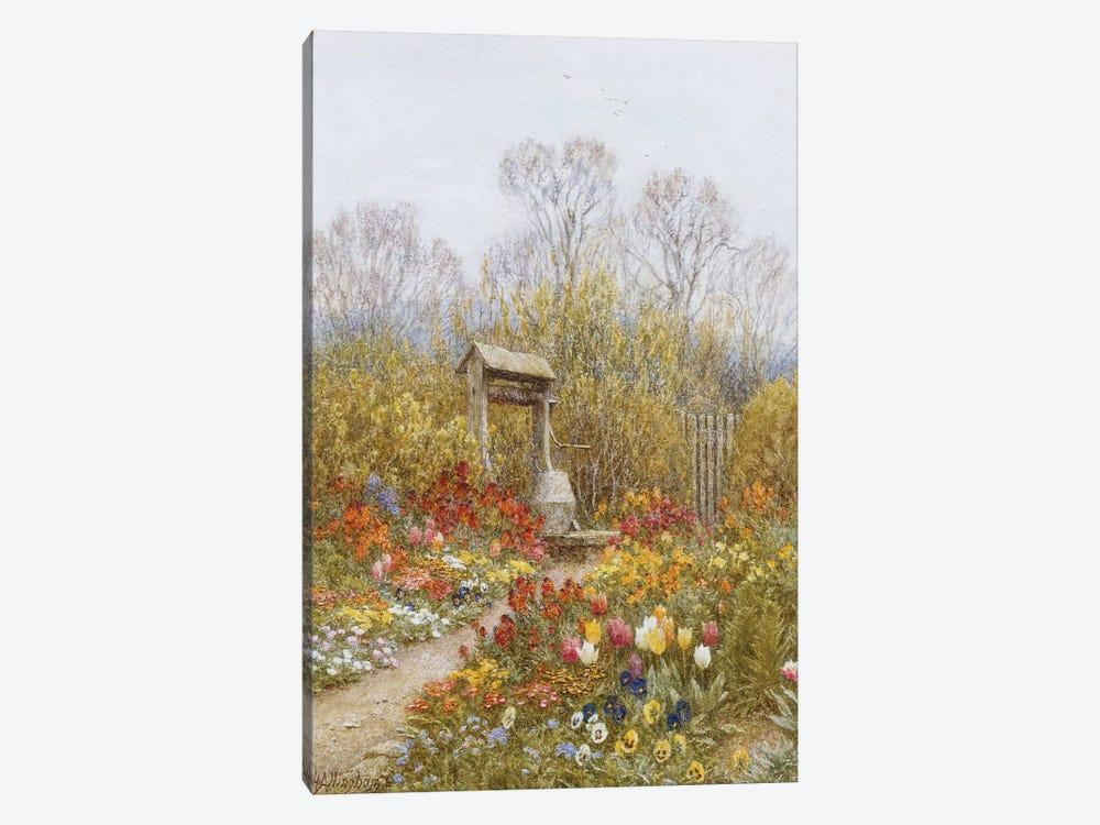 An Old Well, Brook, Surrey  by Helen Allingham 1-piece Canvas Art