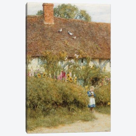 Cottage at West Horsley, Surrey  Canvas Print #BMN5425} by Helen Allingham Canvas Art
