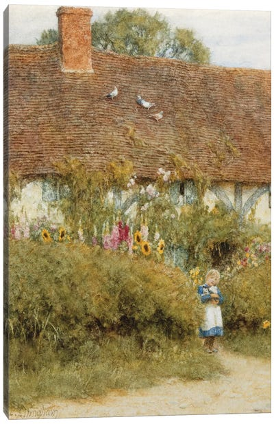 Cottage at West Horsley, Surrey  Canvas Art Print