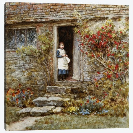 Corcorus Japonica  Canvas Print #BMN5426} by Helen Allingham Canvas Artwork