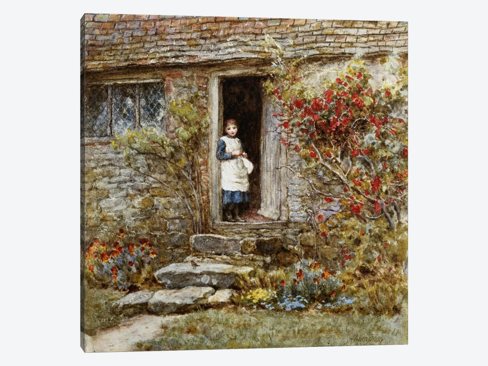 Corcorus Japonica by Helen Allingham 1-piece Canvas Art