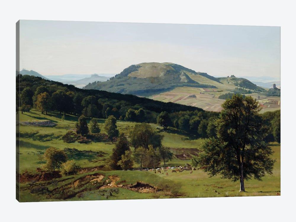 Landscape - Hill and Dale  by Albert Bierstadt 1-piece Art Print