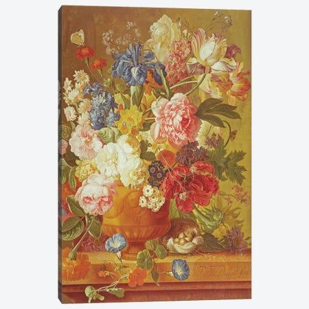 Flowers in a Vase, 1789  Canvas Print #BMN542} by Paul Theodor van Brussel Canvas Art Print