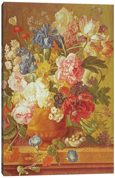 Flowers in a Vase, 1789  Canvas Art Print