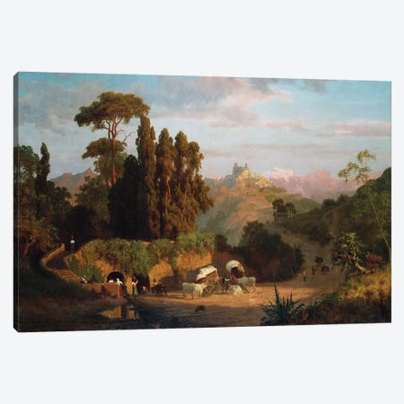 Italian Mountains, 1859  Canvas Print #BMN5430} by Albert Bierstadt Canvas Wall Art