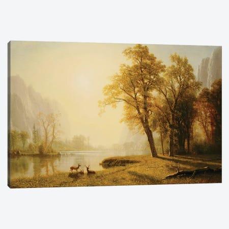 Yosemite Valley  Canvas Print #BMN5431} by Albert Bierstadt Canvas Artwork