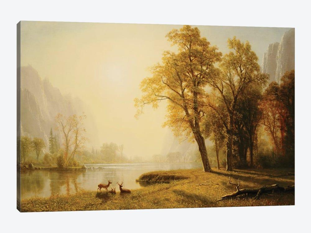 Yosemite Valley  by Albert Bierstadt 1-piece Canvas Artwork