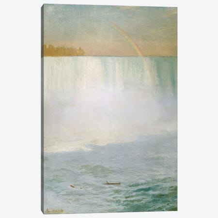 Waterfall and Rainbow, Niagara  Canvas Print #BMN5432} by Albert Bierstadt Canvas Art