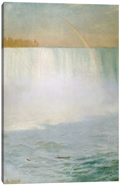 Waterfall and Rainbow, Niagara  Canvas Art Print
