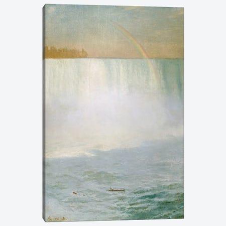 Waterfall and Rainbow, Niagara  Canvas Print #BMN5432} by Albert Bierstadt Canvas Art