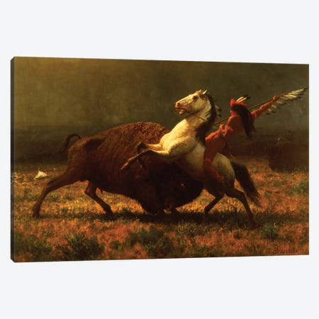 The Last of the Buffalo, c.1888  Canvas Print #BMN5433} by Albert Bierstadt Canvas Artwork