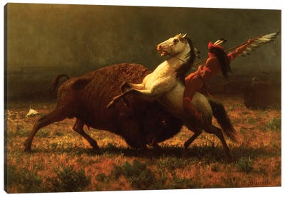 The Last of the Buffalo, c.1888  Canvas Art Print