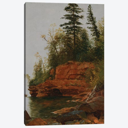 A Rocky Cove  Canvas Print #BMN5435} by Albert Bierstadt Art Print