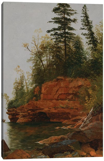 A Rocky Cove  Canvas Art Print