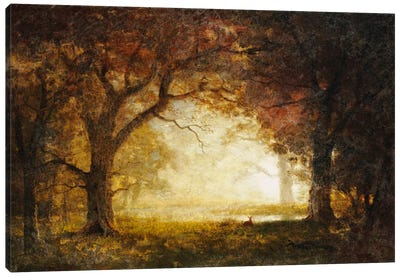 Forest Sunrise by Albert Bierstadt Canvas Print
