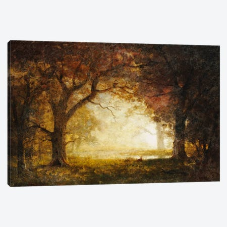 Forest Sunrise  3-Piece Canvas #BMN5436} by Albert Bierstadt Canvas Print