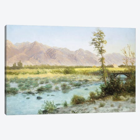 Western Landscape  Canvas Print #BMN5439} by Albert Bierstadt Canvas Wall Art