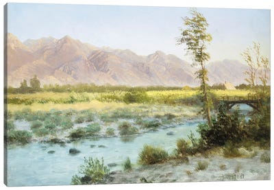 Western Landscape by Albert Bierstadt Canvas Wall Art