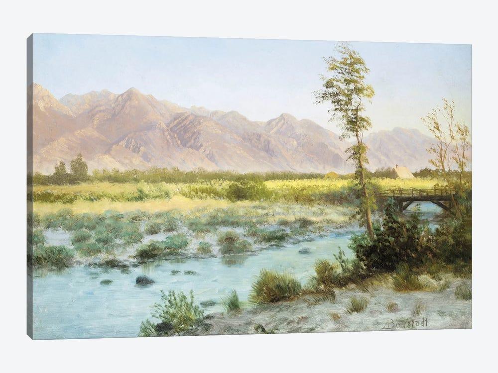 Western Landscape  by Albert Bierstadt 1-piece Canvas Artwork