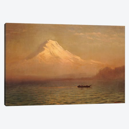 Sunrise on Mount Tacoma  Canvas Print #BMN5441} by Albert Bierstadt Art Print
