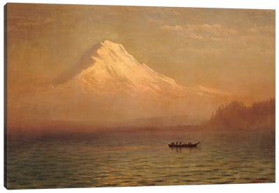 Sunrise on Mount Tacoma  Canvas Art Print