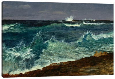 Seascape by Albert Bierstadt Canvas Print