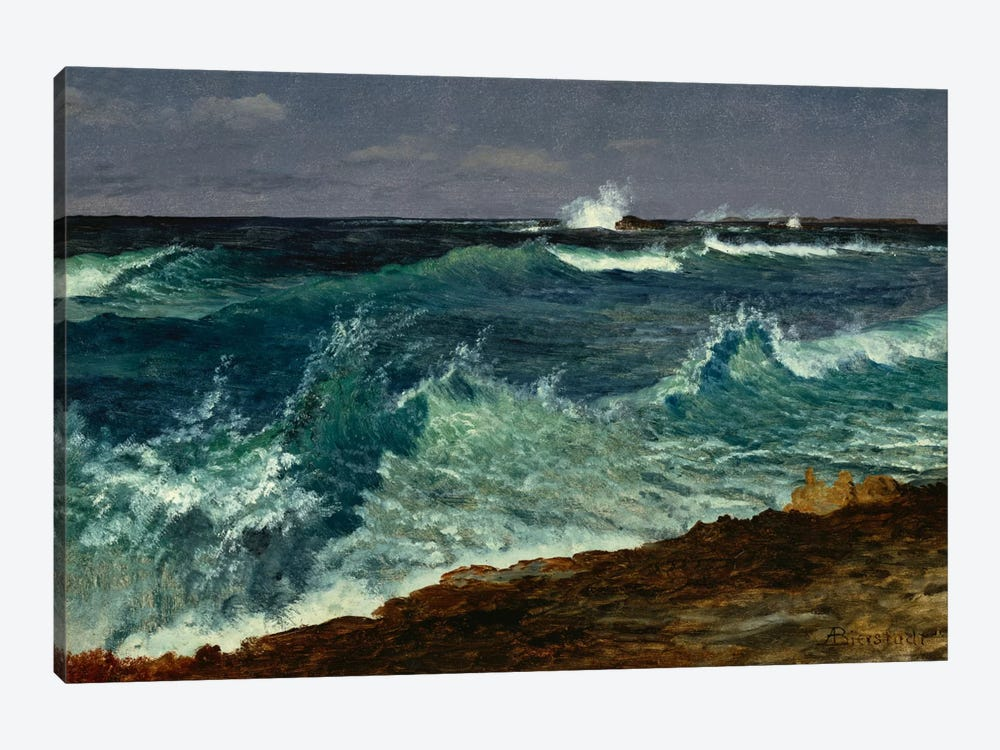 Seascape  by Albert Bierstadt 1-piece Canvas Artwork