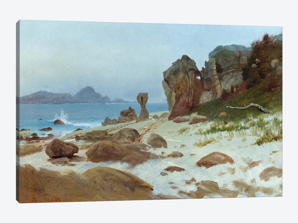 Bay of Monterey  by Albert Bierstadt 1-piece Canvas Print
