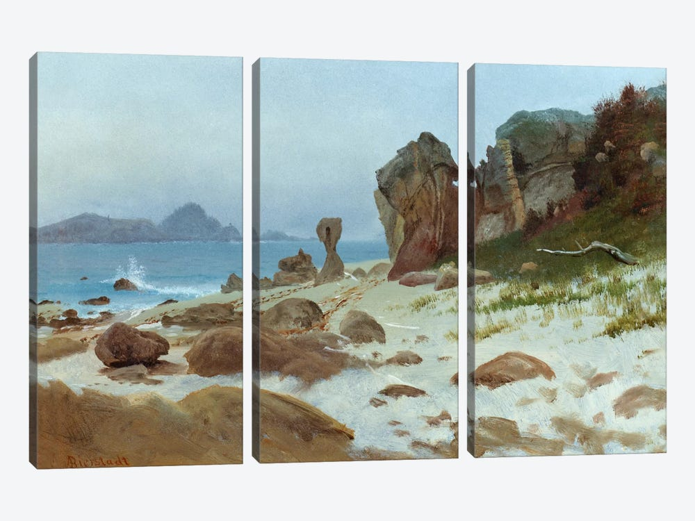 Bay of Monterey  by Albert Bierstadt 3-piece Canvas Art Print