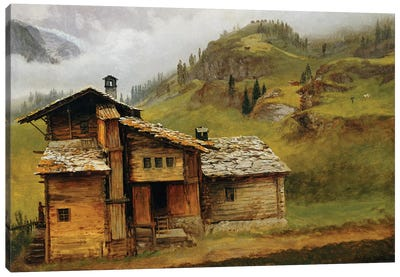 Mountain House  Canvas Art Print