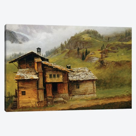 Mountain House  Canvas Print #BMN5444} by Albert Bierstadt Canvas Artwork