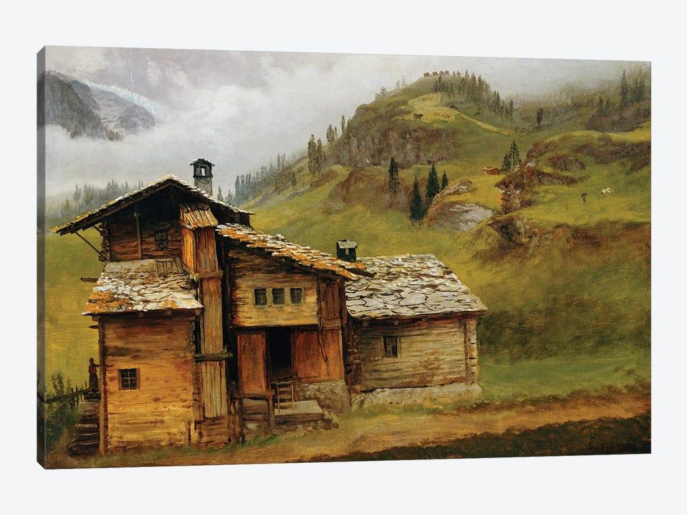 Mountain House  by Albert Bierstadt 1-piece Canvas Wall Art