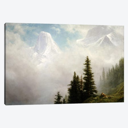 High in the Mountains  Canvas Print #BMN5446} by Albert Bierstadt Canvas Artwork