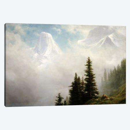 High in the Mountains  Canvas Print #BMN5446} by Albert Bierstadt Canvas Artwork