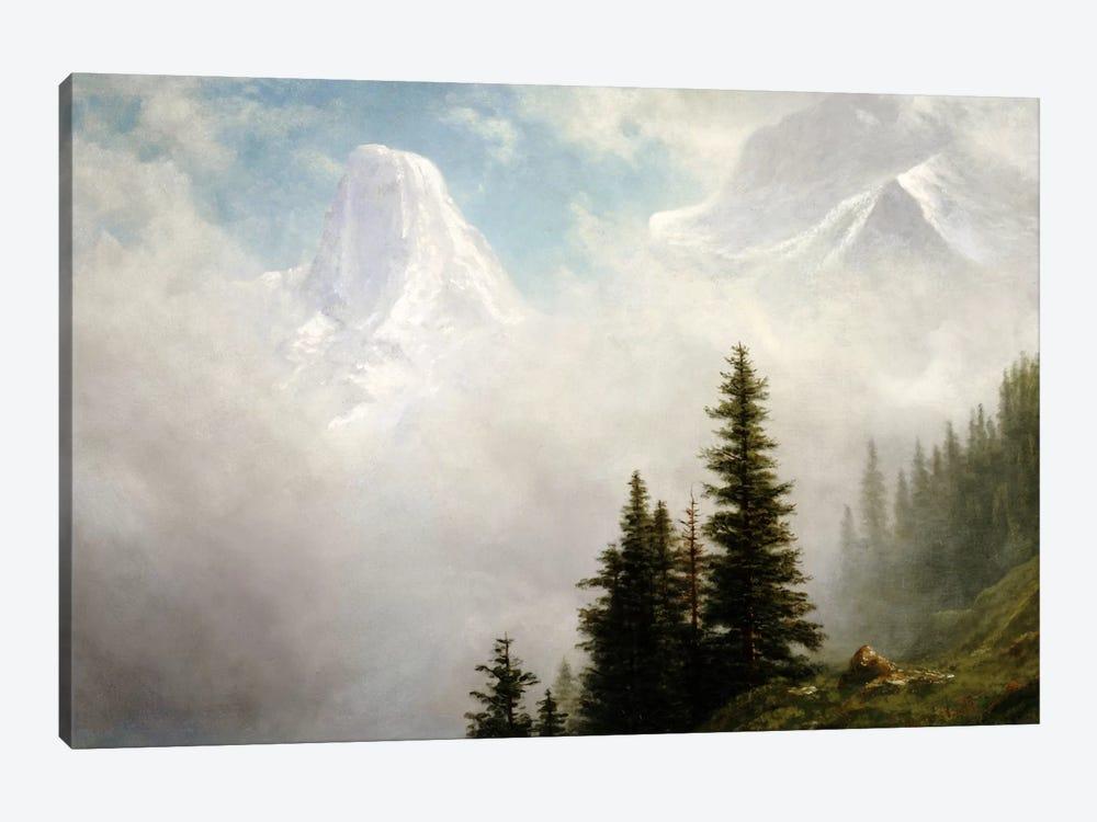 High in the Mountains  by Albert Bierstadt 1-piece Canvas Art