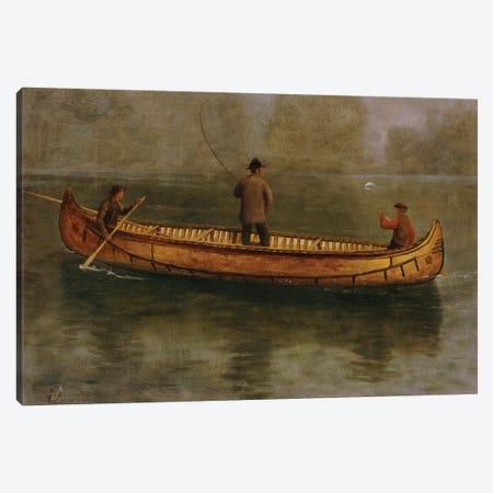 Fishing from a Canoe  Canvas Print #BMN5447} by Albert Bierstadt Canvas Art