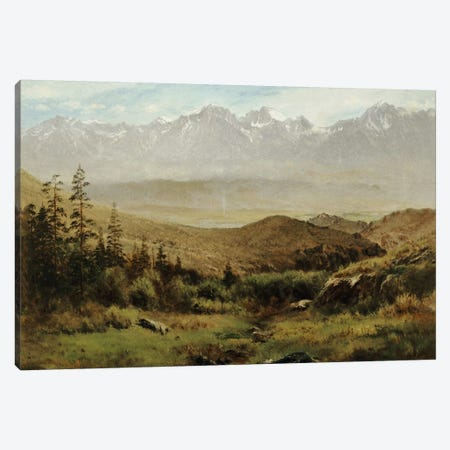 In the Foothills of the Rockies  Canvas Print #BMN5448} by Albert Bierstadt Canvas Art Print