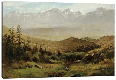 In the Foothills of the Rockies by Albert Bierstadt Canvas Art Print