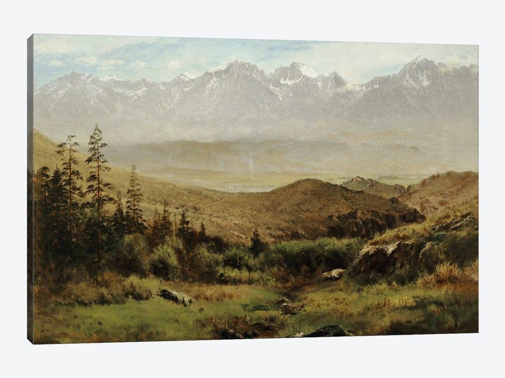 In the Foothills of the Rockies  by Albert Bierstadt 1-piece Canvas Art